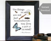 The Things He Sees - Classroom Printable -  A4 and 8x10 - Maria Montessori Quote, Wild + Free, School Room Wall Art