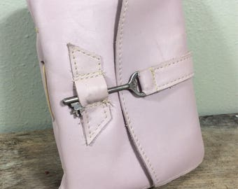 Pastel Pink Leather Journal - MD