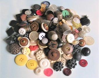 Vintage Buttons Vintage Button Lot Vintage Thimble Lot