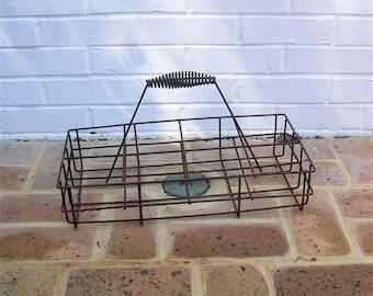 Antique Vintage Metal Basket Antique Primitive Basket With Metal Handle