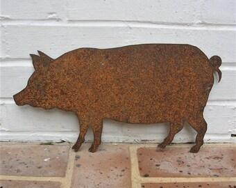 Vintage Metal Pig Rusty Metal Pig