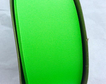 "3"" Solid Grosgrain Ribbon- Neon Green"