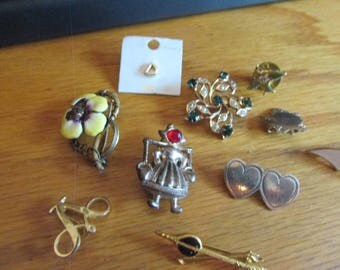 older lot of brooches 10 total