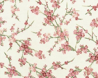 Sakura Flowers fabric | CM6121-Pink | Chong-a Hwang | Timeless Treasures