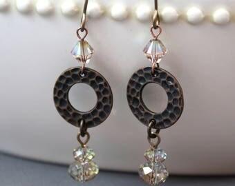 Copper Purple Haze Earrings (E906)