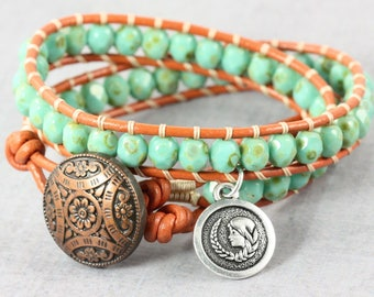 Astrological Sign, Virgo Bracelet, Virgo Star Sign, Zodiac Jewelry, September Birthday, Virgo Wrap Bracelet, Birthday Gift, Leather Bracelet