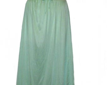 Vintage Kayser mint green nylon lace nightgown size large
