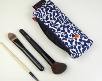 Make-up and brush bag with waterproof lining, Pencil case, Cosmetic purse, Unique case with waterproof lining, Handmade unique case