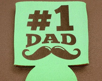 Number One Dad - Drink Holder - Foam - Collapsible Drink Insulator