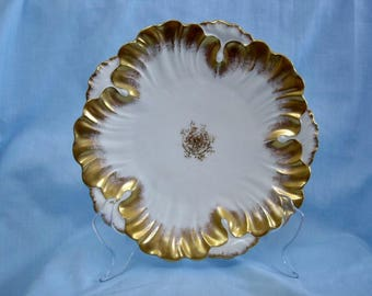 Vintage White and Gold Limoges Plate