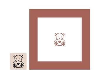 Mini Teddy Bear Rubber Stamp