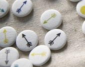 Reserved listing// Linen Arrow Pins