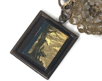Wuthering Heights Hidden Book Necklace  Emily Bronte Author Tiny Readable Book