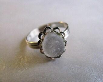 Sea Glass Ring - Amethyst Sea Glass - Beach Glass Ring - Beach Glass Jewelry - Ocean Jewelry Gifts - Genuine Authentic sea glass