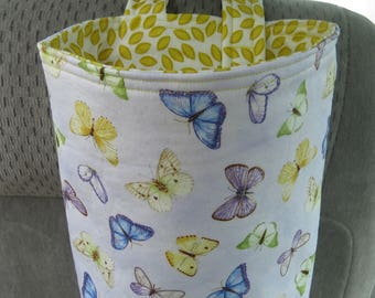 Trash Bin, Car Trash Bag, Cute Car Accessories, Headrest Bag, Trash Container, Butterflies