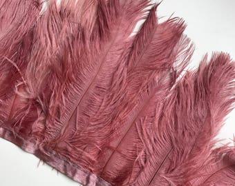 DELICATA OSTRICH PLUMES  , Antique Mauve  Pink  / 2008