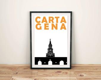 Cartagena Print // Colombia Travel Art Print // Cartagena Art // Cartagena Print // Colombia Print // Colombian Art // Housewarming Gift