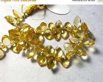 20% OFF SALE Citrine Briolette Beads Marquise 8mm 10mm 12mm ,  Sparkling Pristine, Natural Gemstone