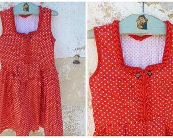 Vintage 1970/70s Authentic Girl Dirndl Tyrol Austria German Dress  size 4/6 years