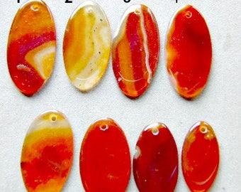 PENDANT, CARNELIAN ,Cornelian,  Gemstone, Orange, Red,I