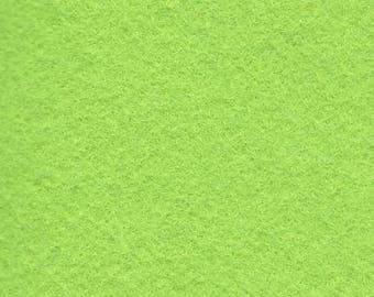 Chartreuse 35/65 Wool Blend Felt 12x18