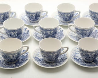 Vintage Wedgewood China Cups and Saucers