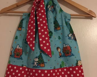 Snoopy Christmas, Peanuts Christmas, Christmas dress, available in size 3,6,9,12,18, months 2t