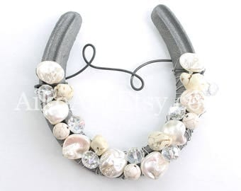 Sugar Large Beaded Horseshoe