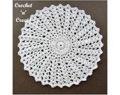 Crochet Shell Doily Crochet Pattern (DOWNLOAD) CNC115