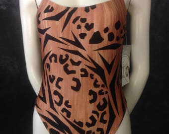 Vintage 1980's Danskin animal print leotard