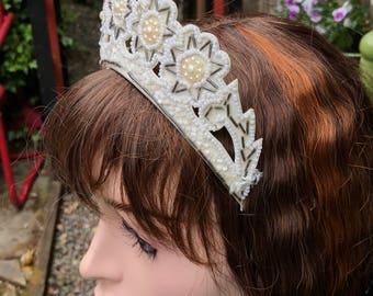 Glorious 1940s Beaded Wedding Tiara