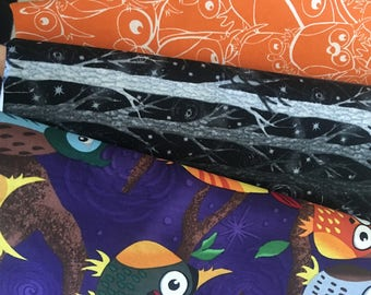 1 yard each 3 yards total of Night Owls fabric by Paintbrush Studio