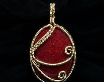 SALE - Firedance Pendant Wire Jewelry Tutorial