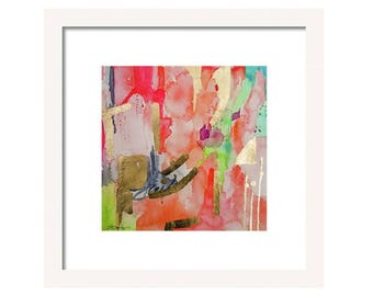 Watercolor Coral Abstract Art Print-Wall Art, Wall Decor-Fine Art-Giclee'-Reproduction-Abstract Painting