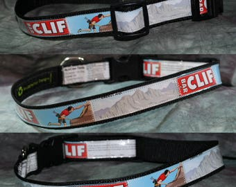 Adjustable Dog Collar from Recycled White Chocolate Macadamia Nut Clif Bar Wrappers