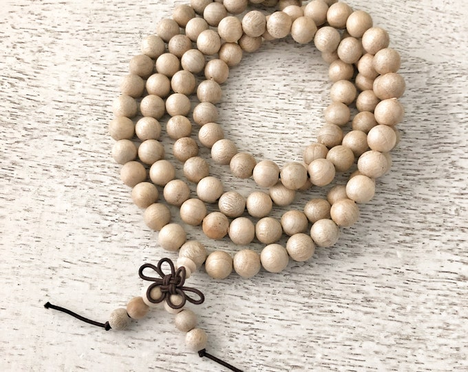 Featured listing image: Sacred Scent Mala Beads / Sandalwood / Prayer Beads / Meditation Beads