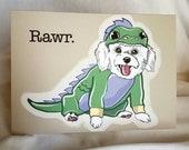 Lil Dragon Maltese Greeting Card
