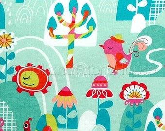 Retro fabric etsy for Retro kids fabric