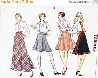 on SALE 25% Off 1970s Flare Skirt Pattern, Misses size 10, Vogue Pattern, 4 lengths Skirt, Flared Skirt, Mini Skirt,  Maxi Skirt Pattern
