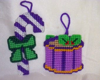 Candy Cane and Christmas Drum Ornaments
