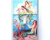 Mermaid Switchplates with MATCHING SCREWS- Mermaid decorations mermaid bathroom decoration mermaid wall plate decorative mermaid mermaid art