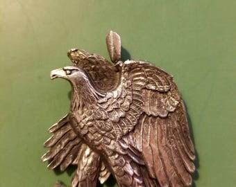Mens silver eagle charm