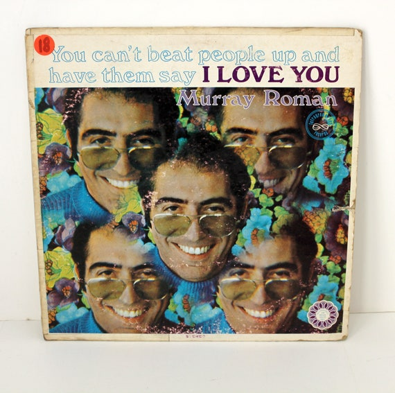 Murray Roman Signed Autographed LP Record Album, Can't Beat People Say I Love You, Comedy Stand Up Comedian