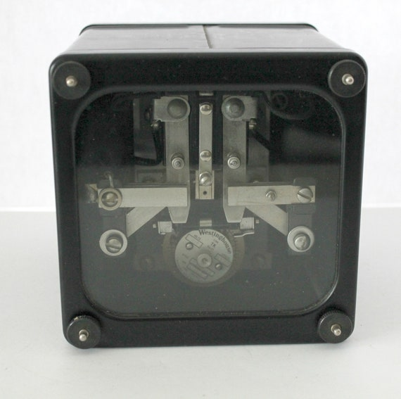 Vintage Westinghouse Type TK Timing Relay, 1930s Electrical, 1937 Electric