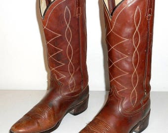 Womens 7 M Cowboy Boots Acme Indie Cowgirl Boho Western Shoes Country