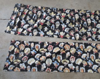 "Alexander Henry's Buckarettes or Buckaroo Fabric / Currently made intio Valences / 3 yards each / 15"" or 18"" wide"
