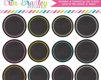 50% OFF SALE Chalkboard Circles Clipart Clip Art Personal & Commercial Use Digital Scrapbooking