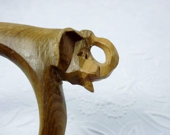 Hand Carved Wood Elephant Bangle, Ethnic African Jewelry, Elephant Jewelry, Bangle Bracelet, Chunky Bold Jewelry, Animal Jewelry