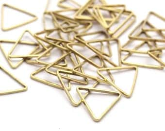 11mm Brass Triangles, 100 Raw Brass Triangles (11x11x11mm) Bs-1164