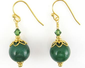 Green Aventurine Earrings